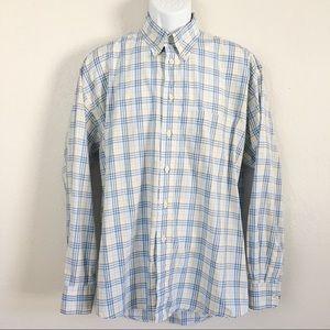 Burberry Men's Plaid Long Sleeve Button Down Shirt